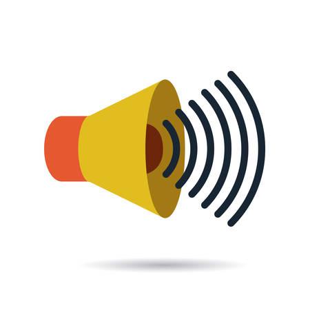 inquinamento acustico disegno, illustrazione grafica vettoriale eps10