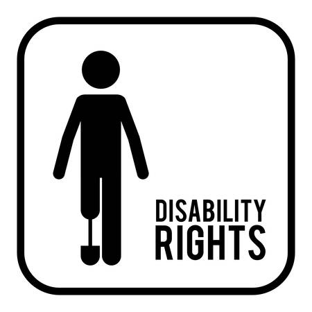 prothesis: disability rights design, vector illustration eps10 graphic