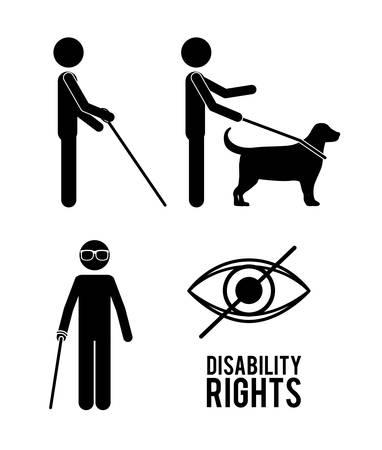 blind dog: disability rights design, vector illustration eps10 graphic