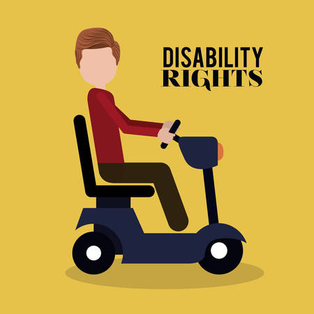 disabled sign: disability rights design, vector illustration eps10 graphic