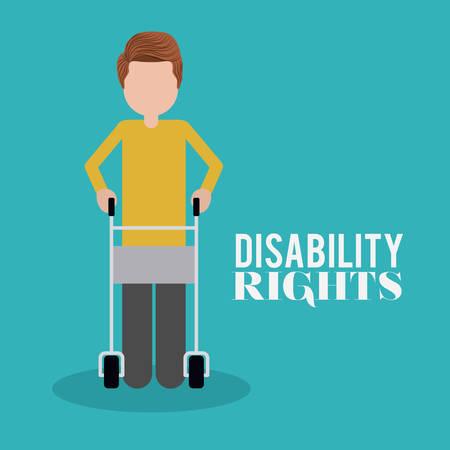 personas discapacitadas: dise�o de derechos de los discapacitados, ejemplo gr�fico del vector eps10