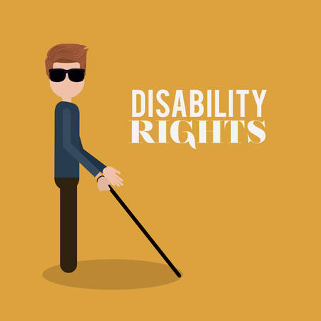 blind man: disability rights design, vector illustration eps10 graphic