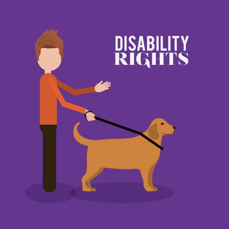 discapacitados: diseño de derechos de los discapacitados, ejemplo gráfico del vector eps10