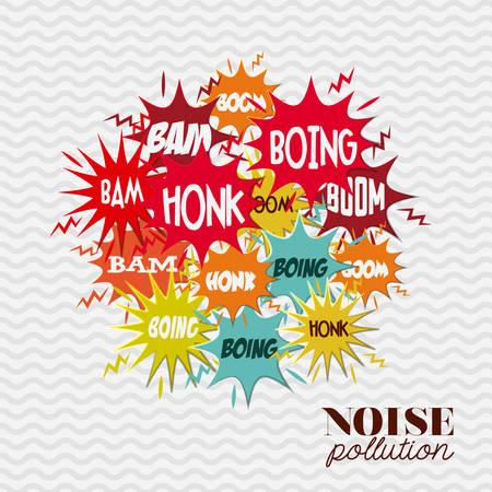 the noise: noise pollution design, vector illustration eps10 graphic