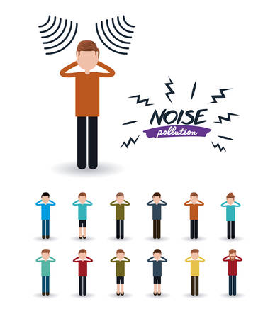 loud noise: noise pollution design, vector illustration eps10 graphic