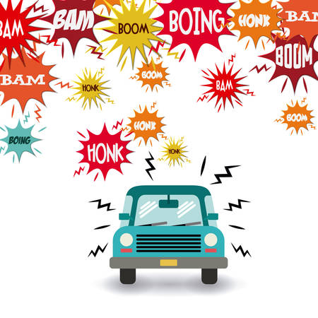 loud noise: noise pollution design, vector illustration graphic