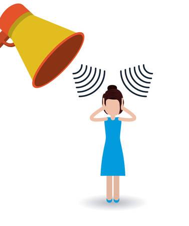 la conception de la pollution sonore, vecteur illustration graphique Vecteurs