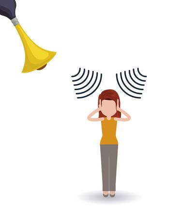 cornet: noise pollution design, vector illustration graphic