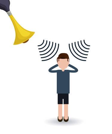 noise pollution design, vector illustration  graphic Vettoriali