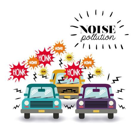 noise pollution design, vector illustration graphic
