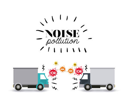 pollution: noise pollution design, vector illustration eps10 graphic