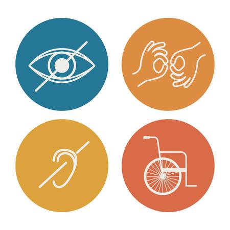 障害者の権利のデザイン、ベクトル図 #graphic