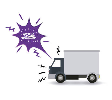 contaminacion acustica: noise pollution design, vector illustration graphic
