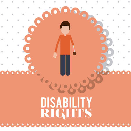 prothesis: disability rights design, vector illustration graphic