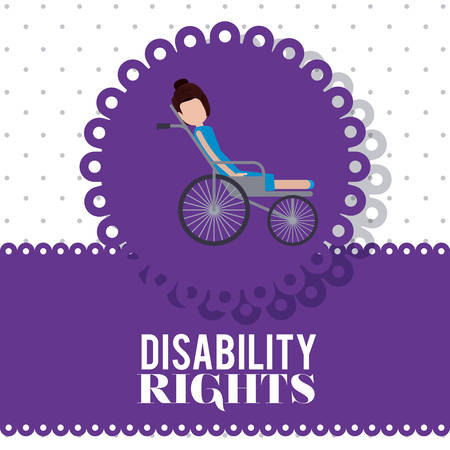 impaired: disability rights design, vector illustration graphic