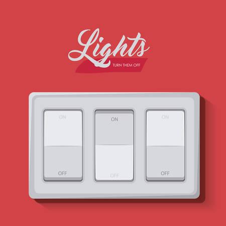 light switch: light switch design, vector illustration eps10 graphic Illustration