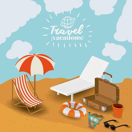 sunglasses recreation: travel vacations design, vector illustration eps10 graphic Illustration
