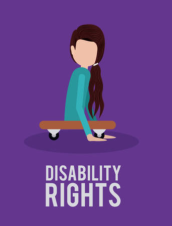 impaired: disability rights design, vector illustration eps10 graphic