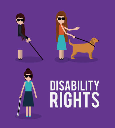 disability rights design, vector illustration eps10 graphic