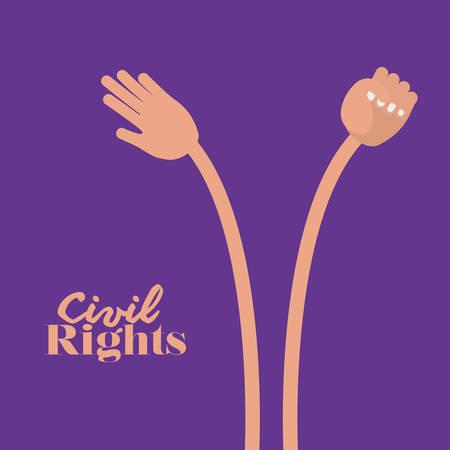 social conflicts: el dise�o de los derechos civiles, ejemplo gr�fico del vector eps10