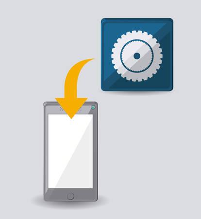 portable: portable pc design, vector illustration eps10 graphic