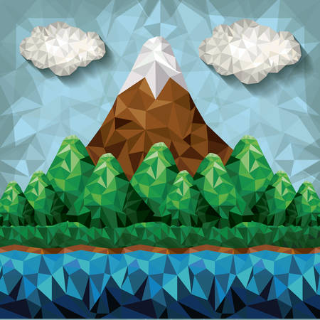 mountain low poly design, vector illustration eps10 graphic