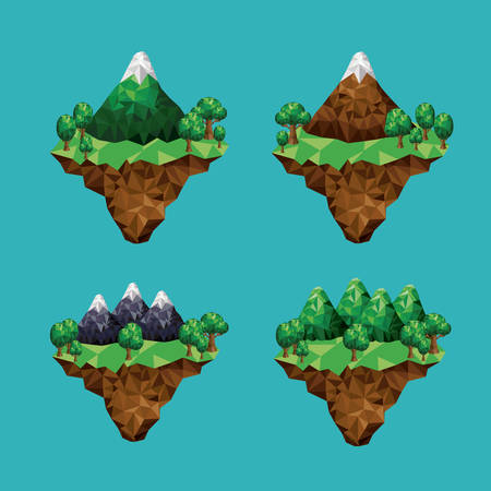 mountain low poly design, vector illustration eps10 graphic Vector Illustration