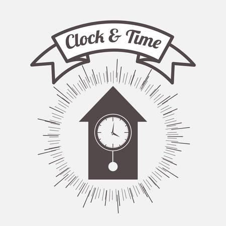 clock and time design, vector illustration eps10 graphic Illustration