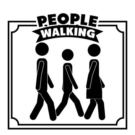people walking design, vector illustration