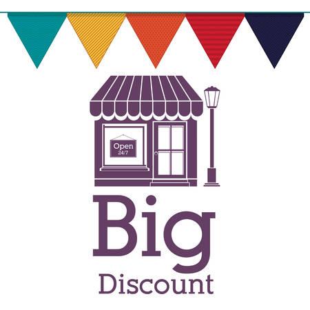 retail place: big sale design, vector illustration Illustration