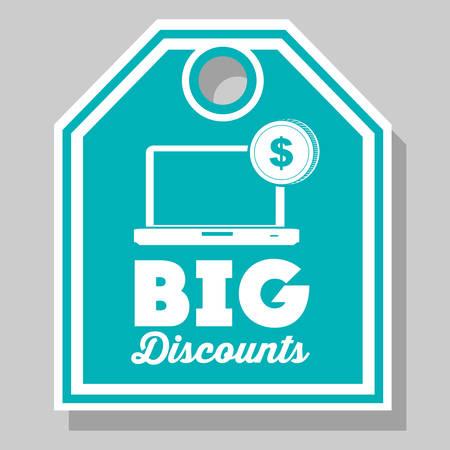 e commerce icon: online store design, vector illustration eps10 graphic