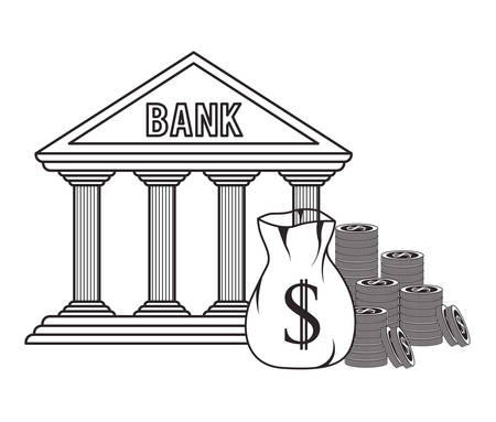 foreign currency: banking trade design, vector illustration eps10 graphic
