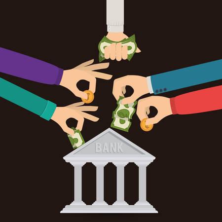 bill of exchange: banking trade design, vector illustration eps10 graphic