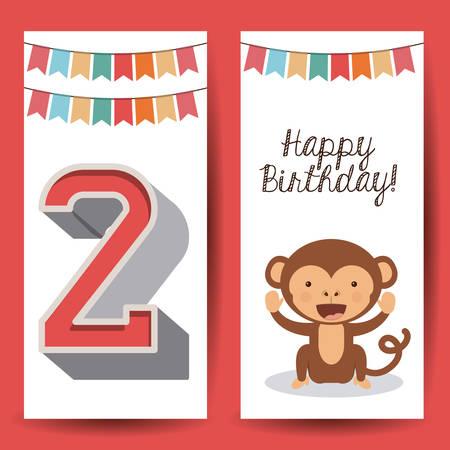 quantity: happy birthday design, vector illustration eps10 graphic