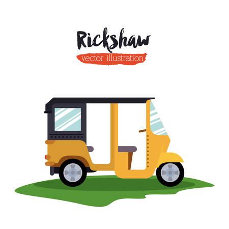 rickshaw transportation design, vector illustration eps10 graphic Vector Illustration