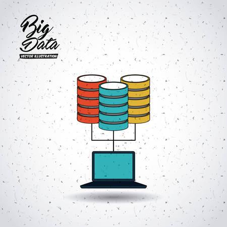 conception grande de données, vecteur illustration graphique eps10