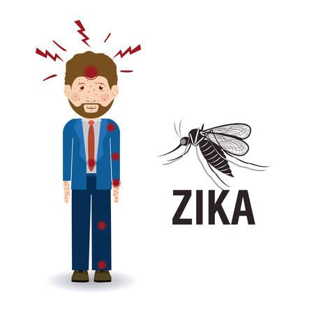 pandemic: the Zika virus design, vector illustration eps10 graphic Illustration