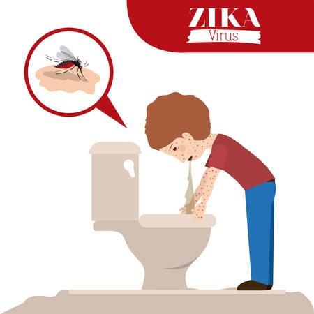 threw: the Zika virus design, vector illustration eps10 graphic Illustration