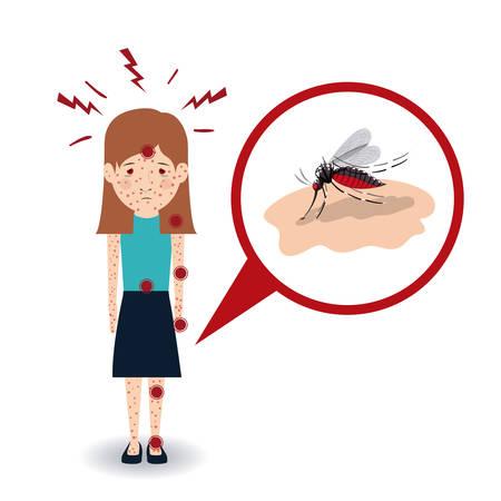 bite: sick from mosquito bite design, vector illustration eps10 graphic