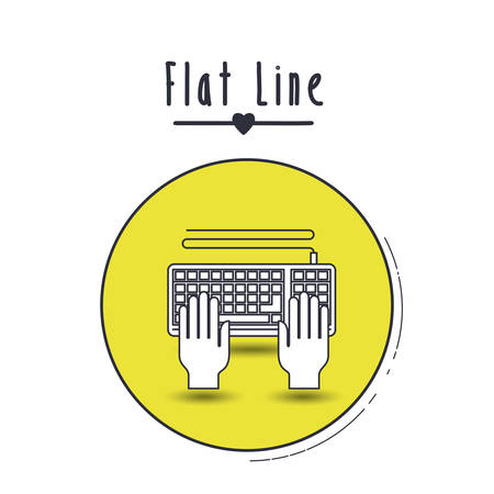 typewrite: flat line icon design, vector illustration eps10 graphic Illustration
