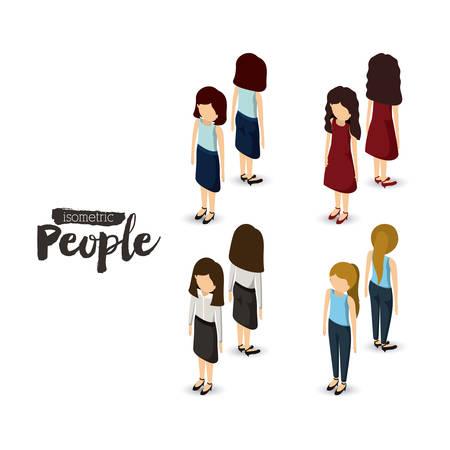 isometric people design, vector illustration eps10 graphic