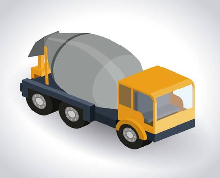 トラック等尺性のデザイン、ベクトル図 eps10 グラフィック  イラスト・ベクター素材