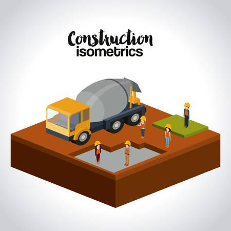 construction isometrics design, vector illustration eps10 graphic