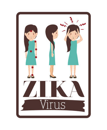 skin infections: the Zika virus design, vector illustration eps10 graphic Illustration