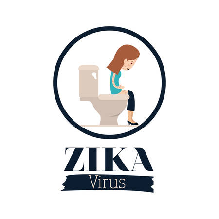 infected mosquito: the Zika virus design, vector illustration eps10 graphic Illustration
