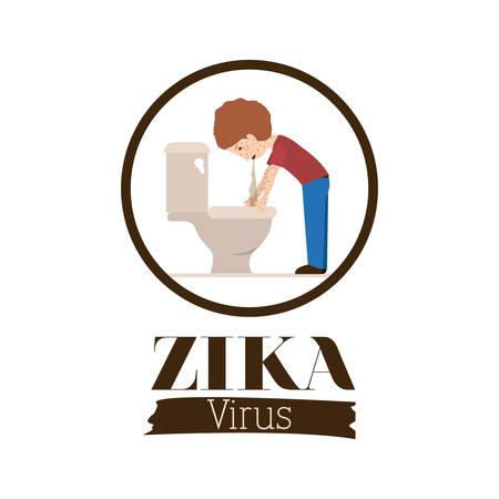 infectious: the Zika virus design, vector illustration eps10 graphic Illustration