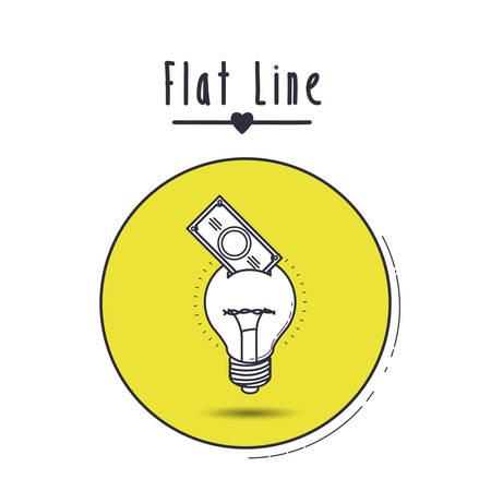 flache Linie Icon Design, Vektor-Illustration eps10 Grafik