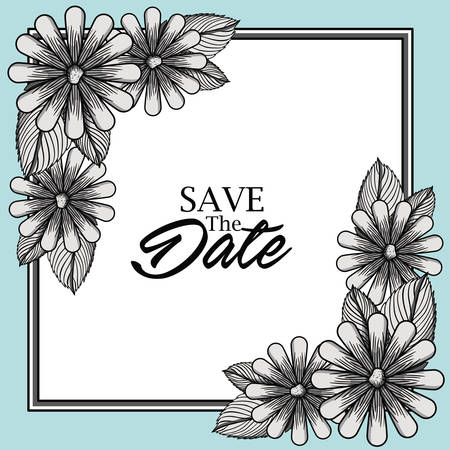 invitation frame: save the date card design, vector illustration eps10 graphic