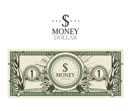dollar bill  isolated design, vector illustration eps10 graphic Illustration