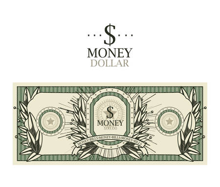 facture design dollar isolé, illustration vectorielle.
